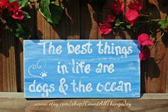 Custom sign, handpainted with your definition of the best things! Custom color, distressed or not.