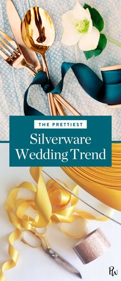 Our tabletop obsession du jour is actually breezy, casual and entirely un-traditional. Get the prettiest silverware wedding trend here. #weddingtrend #silverware #flatware #weddinginspiration #weddingdecor