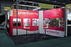 Flexible Pop-up Prestige display for Cranberry at IFE by Quadrant2Design