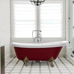 Barclay Products 5.6 ft. Acrylic Ball and Claw Feet Slipper Tub in White with Oil Rubbed Bronze Accessories-TKADTS67-WORB4 - The Home Depot Soaking Bathtubs, Farmhouse Bathroom Accessories, Stand Alone Tub, Clawfoot Bathtub, Tub Faucet, Shower Tub, Red And White, Vanity, Contemporary Design