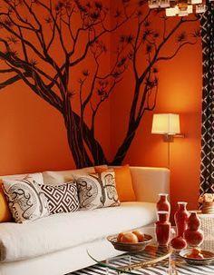 Qu cuadro es el m s adecuado para mi sala una buena for Paredes naranja y beige
