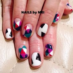 angular geometry nails by mei