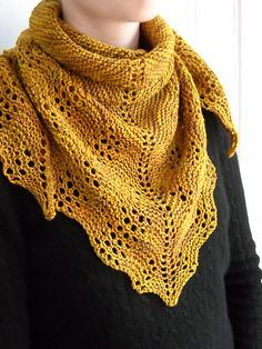 Ravelry This is a quick and easy little scarflet, or triangular neck scarf, worked in fingering weight yarn. Gauge really does not matter. I promise. Just pick a yarn you like and choose a needle size that produces a drape that suits you and enjoy. Knit Or Crochet, Lace Knitting, Crochet Shawl, Knitting Stitches, Knitting Patterns Free, Crochet Patterns, Free Pattern, Tunisian Crochet, Knitting Machine