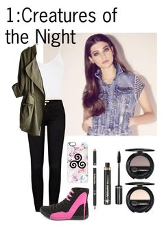 """1:Creatures of the Night"" by teddy-bear-princess on Polyvore featuring Mode, Magdalena, Frame, Topshop, Charlotte Russe, Casetify und Dr.Hauschka"