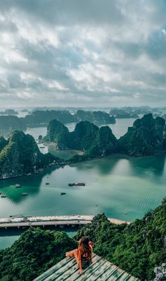 How to get to the best viewpoint in Halong Bay, Vietnam! The Poem Mountain / Bai. - How to get to the best viewpoint in Halong Bay, Vietnam! The Poem Mountain / Bai Tho Mountain is ha - Vietnam Travel, Asia Travel, Wanderlust Travel, Beach Travel, Top Travel Destinations, Travel Tips, Nightlife Travel, Budget Travel, Ha Long Bay