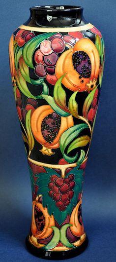 Moocroft Pottery Garnet Apple by Rachel Bishop