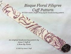 Bisque Floral Filigree Cuff Pattern by arosebyname