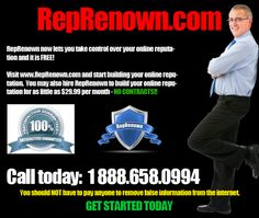 WikiWarnings | You can now take control over your online reputation without the concern of paying thousands of dollars to attorney and online blogs.  RepRenown.com now offers a simple solution that has been proven to be the best way to fight online defamation and slander cases.