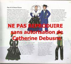 CLIQUER pour visualiser Une page de mon llivre La France en costumes. Dessins et textes pour tous les départements