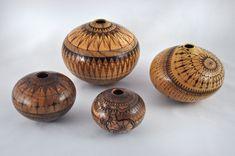 Mike Jackofsky Four Woodburned Bowls
