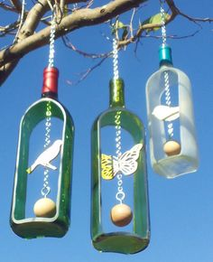 Limited Edition 1.5 Liter Wine Bottle Wind by GroovyGreenGlass