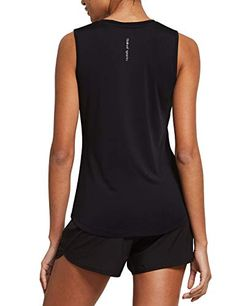$18.99 XL BLACK BALEAF Women's Workout Tank Tops Cotton Sleeveless Athletic Running Shirts Yoga Gym Top BALEAF Adds sweat-wicking technology to buttery soft, breathable cotton-blend fabric Summer Vacation Outfits, Gym Tops, Yoga Gym, Running Shirts, Workout Tank Tops, Skin Tight, Cut And Style, Fit Women, Athletic