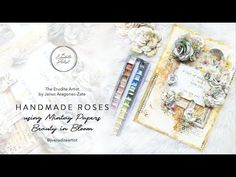 """Handmade Paper Rose using Mintay Papers """"Beauty in Bloom"""" Paper Roses, Artist At Work, Bloom, Tutorials, Fancy, Make It Yourself, Youtube, Projects, Handmade"""