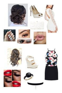 """""""Night Outfits"""" by aisha-567 on Polyvore featuring Christian Louboutin, Lancôme, Deux Lux, Balenciaga and Pomellato"""