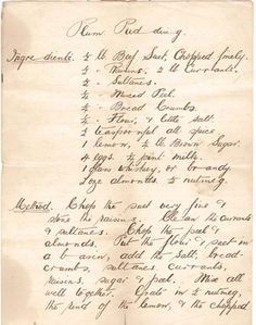 Plum Pudding Hand Written Recipe // preserving recipes // recipe card