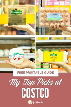 The selections highlighted in this post include my top food picks based on the Live Simply definition of real food and my visit to Costco. Easy Healthy Recipes, Easy Dinner Recipes, Summer Recipes, Whole Food Recipes, Simple Meals, Easy Meals, Silk Almond Milk, Healthy Meats, Cookout Food