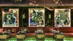 Intecho provided a complete lighting installation to the beautiful Ivy Asia. The striking space is illuminated with luxurious Asian fabrics, green semi-precious stone and impressive artwork. The restauraunt overlooks one of London's most iconic and beautiful sites, St Paul's Cathedral.  #smartbuilding #lightinginstallation #ivy #smartbuildingproivders #ivyasia #smarthomeproviders #technology #design #commercial #restaurauntdesign #smarttechnology #technologysolutions #homedesign #smarthome… Asian Fabric, Green Facade, Green Environment, Beautiful Sites, Freedom Of Movement, Light Installation, Interior Design Studio, Picnic Blanket, Commercial