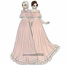 Desain gaun Muslim Fashion, Modest Fashion, Hijab Fashion, Fashion Dresses, Fashion Design Drawings, Fashion Sketches, Sabrina Dress, Hijab Chic, Modele Hijab