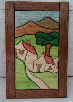 Intarsia Wood Patterns, Intarsia Woodworking, Marquetry, Wood Toys, Wood Art, Projects To Try, Puzzle, Painting, Ideas