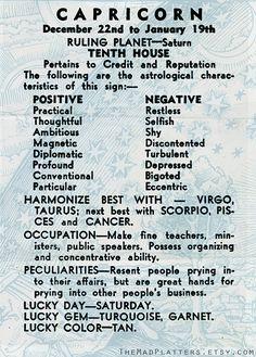 Capricorn constellation zodiac on Plate Dec. 23 by TheMadPlatters
