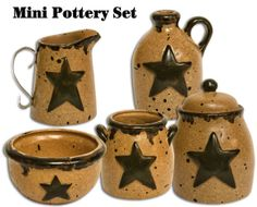 Miniature Pottery Set - Kruenpeeper Creek Country Gifts