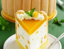 Charlotte abricots et fromage blanc