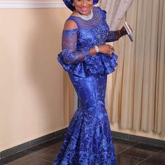 Super Classic and Gorgeous Aso Ebi Lace Styles for Wedding Guests.Super Classic and Gorgeous Aso Ebi Lace Styles for Wedding Guests Nigerian Lace Styles, Aso Ebi Lace Styles, African Lace Styles, Lace Dress Styles, African Lace Dresses, African Dresses For Women, African Attire, African Women, Ankara Styles