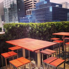 New tables are out at #mad46rooftop