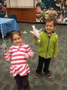 """Flying dragons at this month's """"Fact & Fiction"""" Story Night! There's still spots for this Wednesday night fun for 4 - 7 year olds. Theme is """"Dragons & Dinosaurs"""" for Nov. 18 & Dec. 2 & 9. Register at emmaclark.org"""