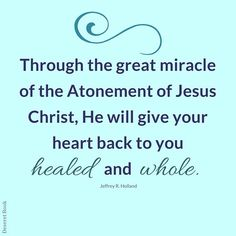 he will give it back ... healed and whole.