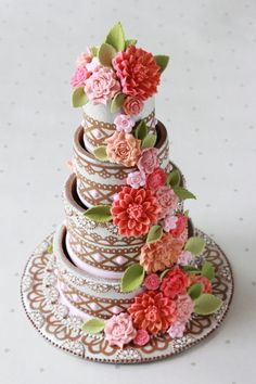 3-D Contoured Cookie Wedding Cake by Julia Usher, Recipes for a Sweet Life | Cookie Connection