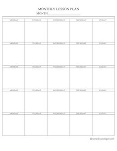Preschool Daily Lesson Plan Template | Lesson plan templates ...