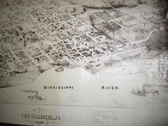 Old Map of Cape Girardeau, on display at the Cape River Heritage Museum