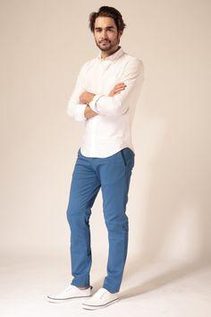 Le Pantalon - Chino Bleu Électrique