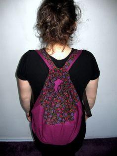 kwiatowo - buraczany #plecak #bag  więcej na: https://www.facebook.com/szycie.zet