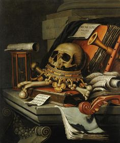 Vanitas Still Life with Crown 1680s ~ by Edward Collier…