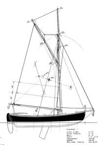 """Developing Plans for a smaller """"Sjogin"""". - Page 2 Small Sailboats, Dinghy, Boat Design, Small Boats, Boat Plans, Wooden Boats, Boat Building, Sailing Ships, Sailing"""