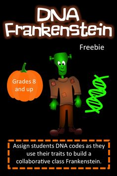 """Individual students contribute certain traits to make a """"Class Frankenstein"""". Biology Classroom, Biology Teacher, Science Biology, Teaching Biology, Life Science, Forensic Science, Computer Science, Teaching Resources, High School Biology"""