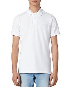 SANDRO LOVE SLIM FIT POLO SHIRT. #sandro #cloth Slim Fit Polo Shirts, Polo Shirt White, Sandro, Polo Ralph Lauren, Mens Fashion, Fitness, Mens Tops, How To Wear, Shirt Men