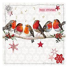 Buy Hammond Gower Robins on Branch Charity Christmas Cards, Pack of 5 from our Christmas Cards range at John Lewis & Partners. Free Delivery on orders over Charity Christmas Cards, Vintage Christmas Cards, Christmas Art, Christmas And New Year, Christmas Holidays, Christmas Decorations, 3d Craft, Christmas Graphics, Robins