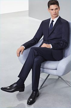 af2f24442f Arthur Gosse dons a sharp suit and dress shoes from BOSS. #Suit #Menswear