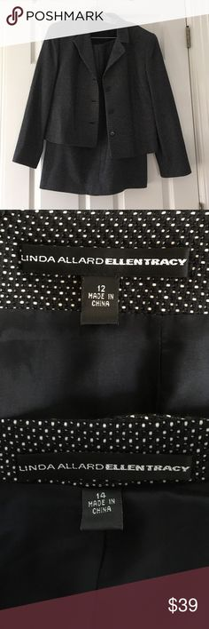 Ellen Tracy suit, top (sz14), skirt (sz12) Gorgeous, seldom-worn suit by Linda Allard/Ellen Tracy jacket (sz14), skirt (sz12) Linda Allard/Ellen Tracy Jackets & Coats Blazers