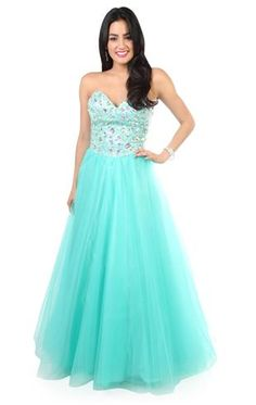 e2826e6fd6d Deb Shops strapless corset style long prom dress with chunky stone accents
