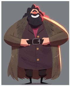 Hagrid - Harry Potter characters by Rayner Alencar. Arte Do Harry Potter, Harry Potter Drawings, Harry Potter Characters, Character Concept, Character Art, Concept Art, Rúbeo Hagrid, Desenhos Harry Potter, Character Design References