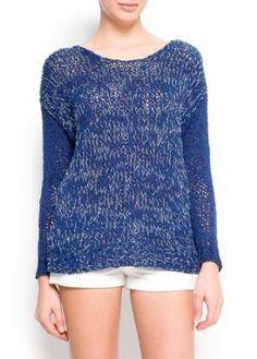 Mango Women's Chunky Knit Sweater, Ink, Xs Ink Xs MANGO. $79.99