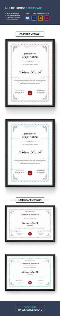 Certificate   Certificate, Template and Certificate design