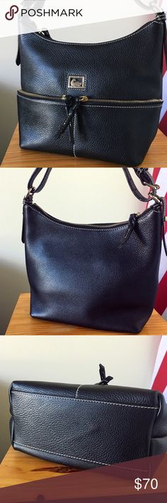 Dooney and Bourke Black Pebble Leather Purse EUC (like new). Dimensions are 10 x 9 x 6. Easily fits on the shoulder. Zippered pocket inside with a non-zippered pocket as well. Dooney & Bourke Bags Shoulder Bags