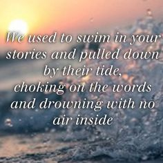 The Silence- Bastille Listen to this song and know what it's about - still apply these words to writers and poets everywhere