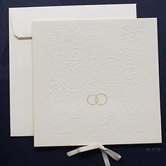 Einladungskarte Goldene Hochzeit Eheringe fzh1770 quadratisch
