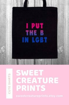 Show off your bisexual pride with this lgbt bisexual tote bag! Let the world know you are bi and you are proud of your sexuality! Click through to grab yours. Vegan Fashion, Ethical Fashion, Lgbt History, Pride Outfit, Bisexual Pride, Intersectional Feminism, Etsy Business, Natural Skin Care, Stocking Stuffers
